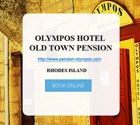 Olympos Hotel - Old Town Rhodes
